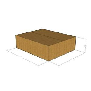 50 New Corrugated Boxes 17 X 14 X 5 32 Ect
