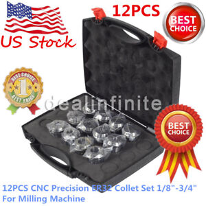 12pcs Cnc Precision Er32 Collet Set 1 8 3 4 For Milling Machine Usa Shipping