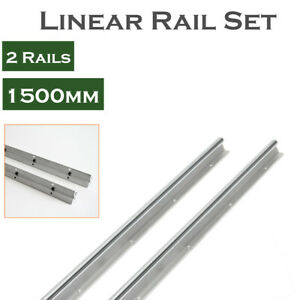 Sbr20 1500 20mm Fully Supported Cnc 2pcs Linear Rail Shaft Rod Slide Guide
