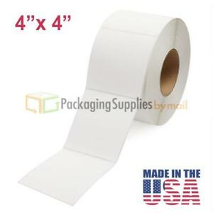 4 X 4 Direct Thermal Labels Roll Perforated 3 Core 1475 rl 300 Rolls