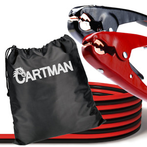 Cartman Heavy Duty Booster Cables Jump Cable With Carry Bag 2 Awg 2gauge X 20f
