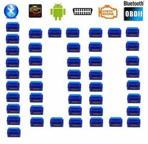 100x Mini Obd2 Obdii Elm327 V2 1 Android Bluetooth Adapter Auto Scanner Lot Fh12