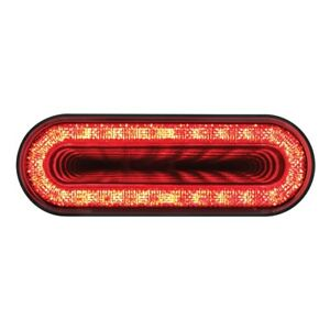 Oval 6 Mirage 24 Led Stop Turn Tail Light Red Lens Super Bright 36656