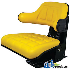 Yellow Wrap Around Seat Replacement With Arms Fits In John Deere 1020 1030 1040