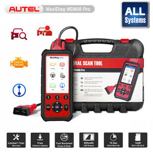 Autel Maxidiag Md808 Pro All Systems Code Reader Diagnostic Scanner Tool Md802