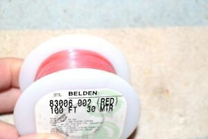 Belden New 83006 Silver coated copper Teflon Hookup Wire 22 Awg 100 Feet Red