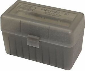 NEW MTM 50 Round Flip-Top 270 Win 280 Rem 30-06 Rifle Ammo Box - Clear Smoke