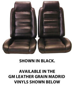 Chevrolet Monte Carlo Front Bucket Seat Covers Factory Replacement 1978 81