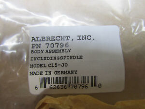 Albrecht Body And Spindle Assembly 70796 For Model C15 J0 Keyless Drill Chuck