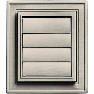 Builders Edge 140147079048 Square Exhaust Vent 048 Almond