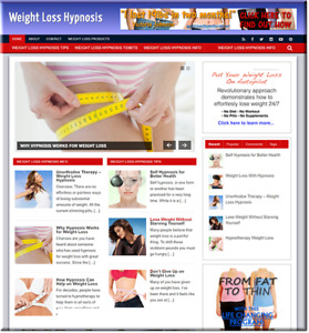 Weight Loss Hypnosis Turnkey Website Business Earn From Affiliate Adsense