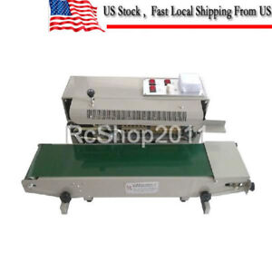 Automatic Horizontal Continuous Plastic Bag Band Sealing Sealer Machine Fr900 Us