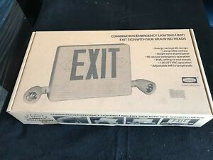 Hubbell Dual Lite Combo Led Emergency Exit Light Hcxurw New fast Shipping