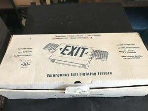 Emergency Exit Combo Led Lighting Fixture New