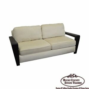 Thayer Coggin Modern Design Black White Sofa
