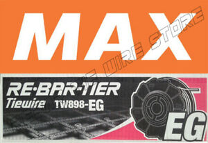 Tw898eg Max Rebar Tie Wire 50 Roll Case New Product galvanized