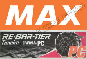 Tw898pc Max Rebar Tie Wire 50 Roll Case New Product poly coated