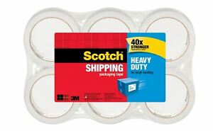 Scotch Heavy duty Shipping Packing Tape 1 7 8 X 43 7 10 Yd Pack Of 6