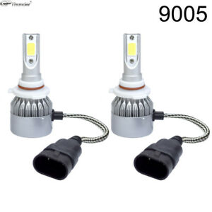 Cree Led Headlight 9005 Hb3 6000k High Beam Or Fog Drl Bulb White Pair