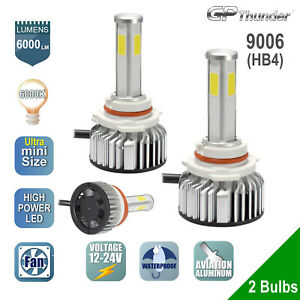 Gp Thunder Cree Led Headlight 9006 Hb4 6000k Low Beam Fog Drl Bulb White