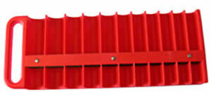 Lisle 40900 22 Piece Red Large Magnetic 1 2 Socket Tray