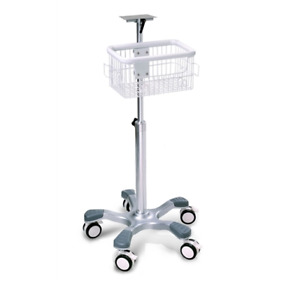 New Rolling Stand For Datascope Passport 2 Spectrum Monitors W Basket