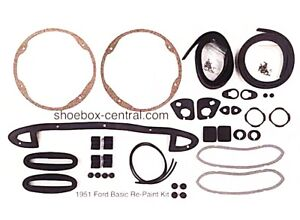 1951 Ford Shoebox Car Basic Body Gasket And Seal Kit Save
