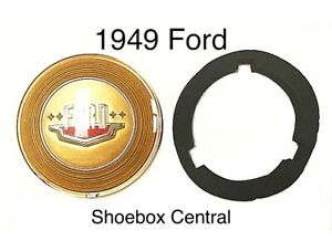 1949 49 Ford Shoebox Horn Ring Emblem Kit