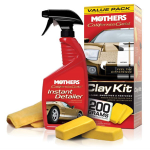 Mothers 07240 California Gold Clay Bar System With 2 Clay Bars Microfiber Towel