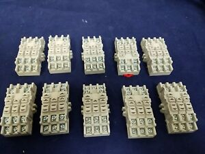 Lot Of 10 Magnecraft 70 463 1 Relay Socket 11 Pin Ice Cube Din Rail Panel Mount