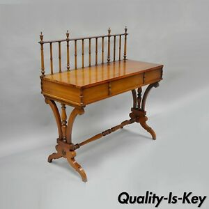 Vtg Mahogany English Regency Style Console Sofa Hall Table Custom Server 42 A