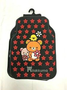 5 Pieces Rubber Cartoon Floor Mats Rilakkuama Red Relax Bear Cute Japanese