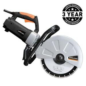 Corded Portable Concrete Saw 15 Amp 12 In Brick Stone Paving Concrete Saw