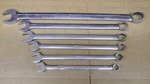 Snap On 6pc Sae Long 12pt Combination Wrench Set