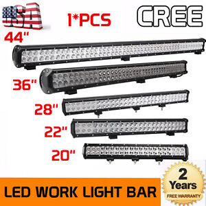 20 inch 126w 44inch 288w Led Work Light Bar Offroad Driving Combo Car Boat Lamp
