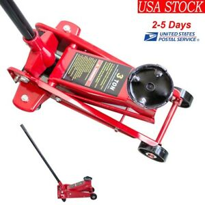 3 Ton Low Profile Aluminum Racing Floor Jack Rapid Pump Lift Car Lowrider Usa Ce
