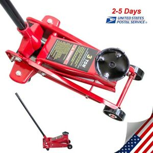 3 Ton Low Profile Racing Car Auto Floor Jack 6000 Lbs Extra Wide Steel U