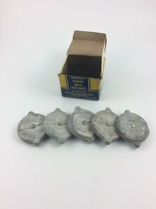 5 Evrseal Fender Well Gas Caps With Box For 1941 Ford Lincoln Mercury