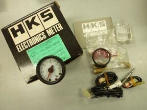 Genuine Hks 52mm Oil Water Temp Gauge New Rare White Face Defi Greddy Blitz