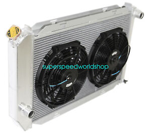 Aluminum Racing 3 Row Radiator 12 Fans Fits For 71 73 Ford Mustang V8 Mt Only