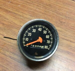 Vintage 1950s Mack Truck Mechanical Speedometer Stewart Warner Gauge