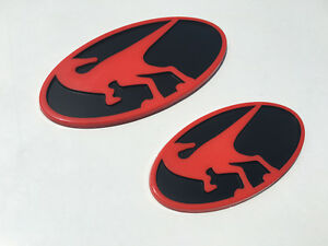 Raptor Emblems For Hyundai Veloster Veloster Turbo All Years Front Rear Red