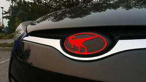 Raptor Front Emblem For Hyundai Veloster Veloster Turbo 2012 2017 Red