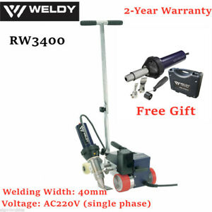 Usa Ac220v Weldy Rw3400 Roofer Hot Air Welder Machine 40mm Nozzle free Air Gun
