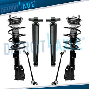 6pc Kit 2007 2016 Chevy Traverse Gmc Acadia Buick Enclave Front Strut Rear Shock