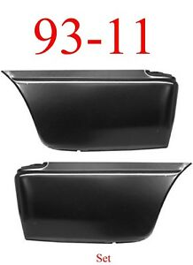 93 11 Lower Rear Bed Patch Set Ford Ranger 2 Door Extended Cab Both Left Right