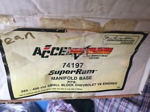 Accel 74197 Tpi Super Ram Intake Manifold Base Beyond Rare New In Box