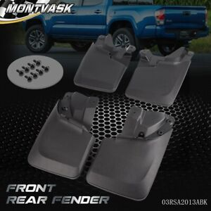 4 Pcs Front Rear Splash Guards Mud Flaps Fit For Toyota Tacoma 2016 2020