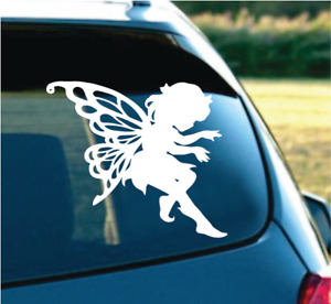 Cute Butterfly Angel White 6 Decal Sticker For Car Suv Truck