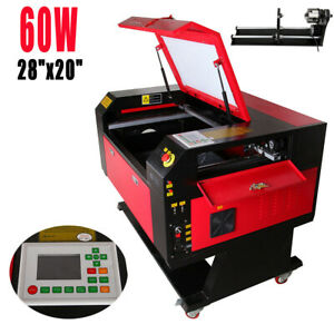 60w Co2 Laser Engraving Cutting Machine Engraver Cutter Usb W Cnc Rotary A xis